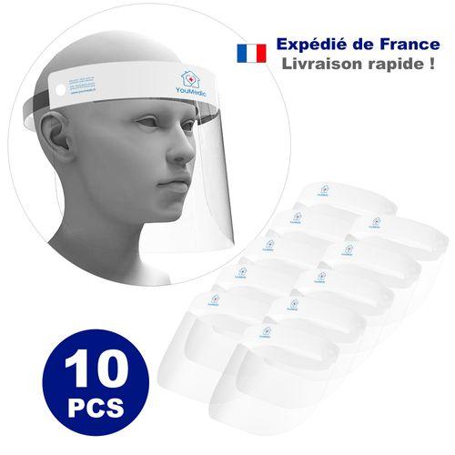 Lot de 10 Visieres de Protection Transparente 32x22