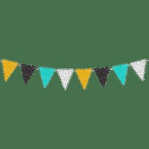 Guirlande Fanion pois Multicolore 2m