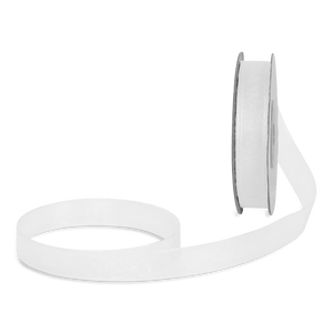 Ruban en Soie Transparent Blanc 12mm x 25m