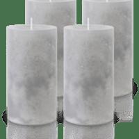 Pack de 4 Bougies Marbrées Gris 13x7cm