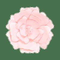 Fleur En Papier Anémone Rose Pâle 30 cm