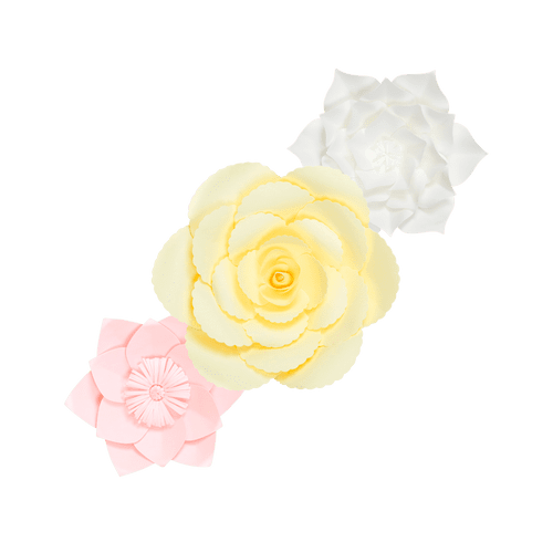 Kit Fleurs En Papier Ice Cream x3