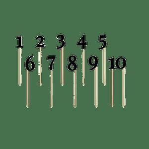 Marque Table chiffres Noir x11