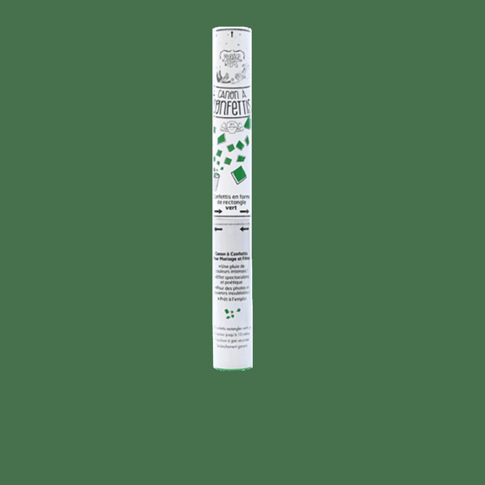 Canon à confettis Vert