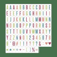 Set de Lettres Couleur pour LightBox