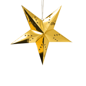 Etoile déco dorée 60cm