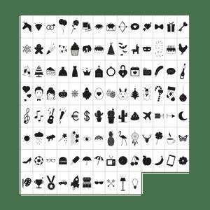 Set de Symboles Noir pour LightBox