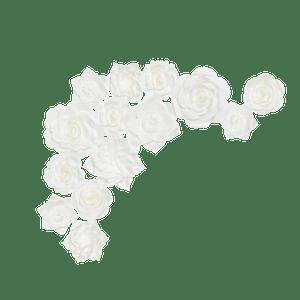 Kit Fleurs En Papier Big White x14