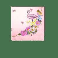 Serviette papier flamant rose multicouleur x20