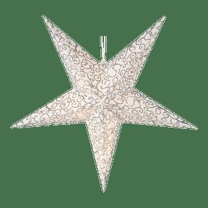 Etoile Lumineuse Volutes Blanc et Or