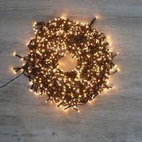 Guirlande Lumineuse Cluster 768 LEDs Blanc Chaud 4,50 m Clignotant