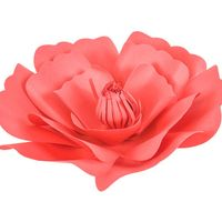 Fleur En Papier Anémone Rouge 20 cm