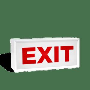 Lightbox Exit Blanc