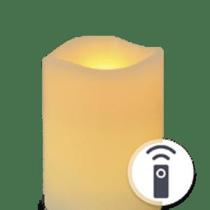 Bougie LED Ivoire Vagues 10cm Télécommandable