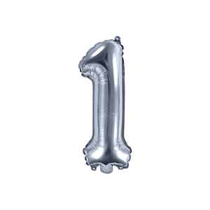 Ballon Chiffre 1 Argent 35 cm