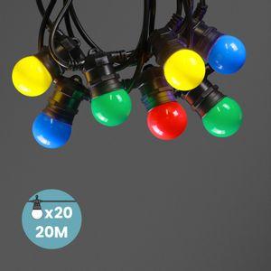 Kit Guirlande Guinguette 20m IP 65 Multicolore