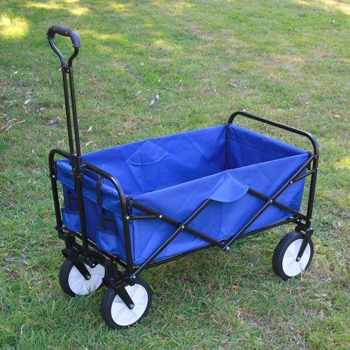 Chariot Pliable Multifonction Bleu