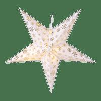 Etoile Lumineuse Flocons Blanc et Or