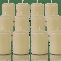 Pack de 12 bougies votives Champagne 5x7cm