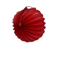 Deco Mariage & Fête Lampion Rond 20 Cm Rouge (Lot De 10 Pièces)