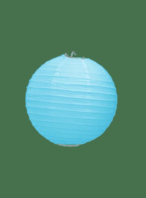 Boule Papier Turquoise 10 cm x3