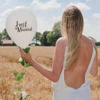 """Ballon Mariage """"Just married"""" Blanc"""