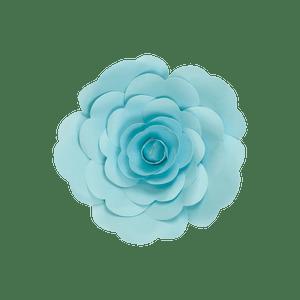 Fleur En Papier Rose Turquoise 20 cm