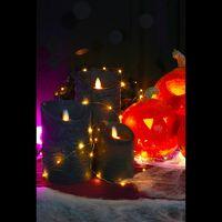 Bougie Led Flamme Vacillante Noir 10 cm