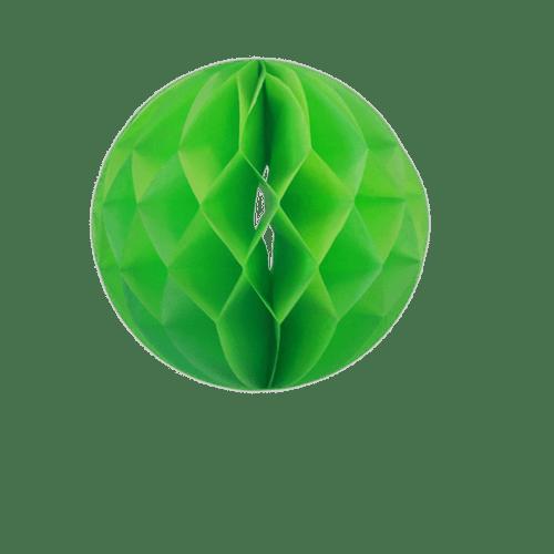 Décoration De Mariage, Fête, Anniversaire Boule Chinoise Alvéolée 20 Cm Vert (Lot De 5 Pièces)
