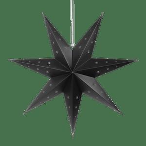 Etoile déco noire 70cm
