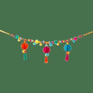 Guirlande Pompon Inca Multicolore 1 m