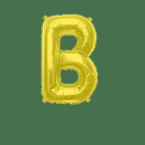 Ballon Lettre B Or 35 cm