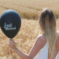 """Ballon Mariage """"Just married"""" Noir"""