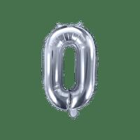 Ballon Chiffre 0 Argent 35 cm