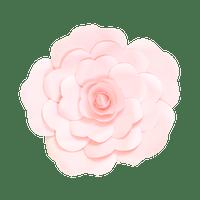 Fleur En Papier Rose Rose Pâle 30 cm