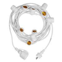Guinguette Ampoules Remplaçables Transparent 10 m Cable Blanc