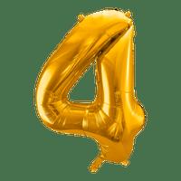 Ballon Chiffre 4 Or 90 cm
