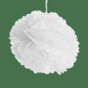 Pompons Blanc 40cm x2