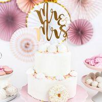 Cake Topper Mr & Ms Or 25,5 cm