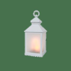 Lanterne Blanche LED Effet Torche 26cm