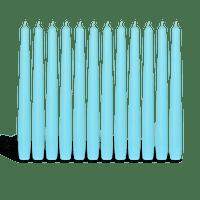 Pack de 12 chandelles Bleu turquoise 23x25cm