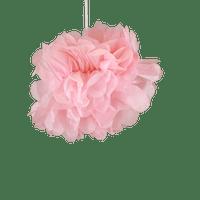 Déco Pour Soirée Mariage & Fête, Anniversaire, Fête Pompons Rose Pâle 20Cm (Lot De 10 Pièces)