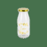 Mini Bouteille Verre Love Or 14 cm