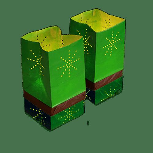 Lanterne Flottante Mariage & Fête Sac Lumineux Flottant Tulum Vert (Lot De 10 Pièces)