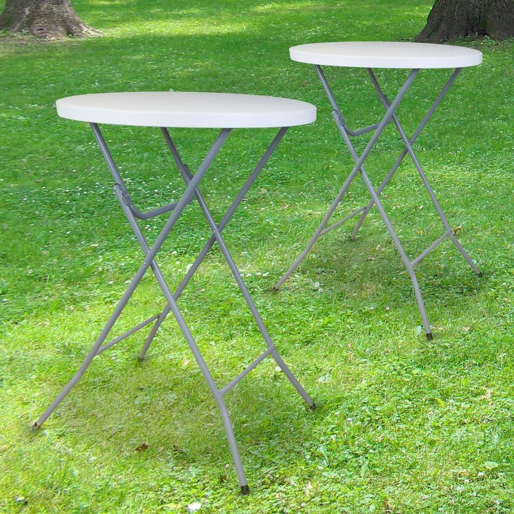 Lot de 2 Tables Hautes Mange Debout Pliante 110x80 cm
