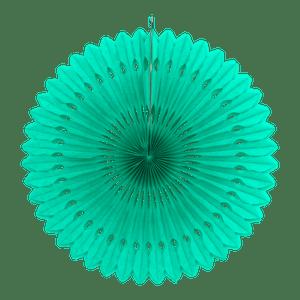 Rosace papier 50 cm Vert d'eau