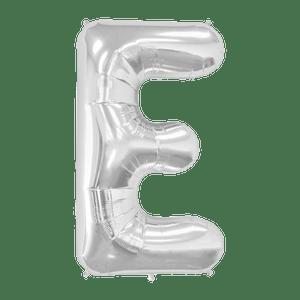 Ballon Lettre E Argent 90 cm