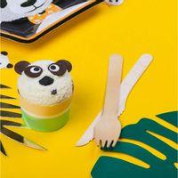 Fourchette Jetable Bambou Naturel x12