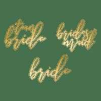 Tatouage Papier Team Bride Noir x15