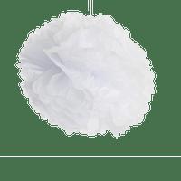 Déco Soirée Mariage & Fête, Anniversaire, Fête Pompons Blanc 40Cm (Lot De 6 Pièces)